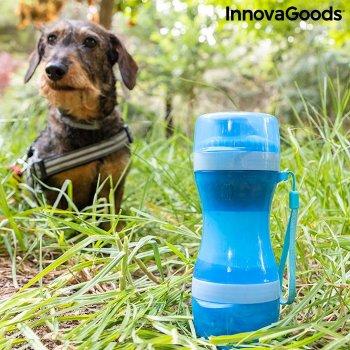 Botella con Depósito de Agua y Comida para Mascotas 2 en 1 Pettap InnovaGoods