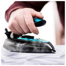 Plancha Vapor-Seco de Viaje Cecotec GoForce 8000 Folding Titanium 60 ml 1200W Negro Azul