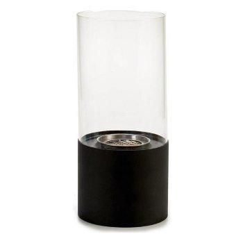 Quemador Negro Metal Vidrio Metal (12 x 26 x 12 cm)
