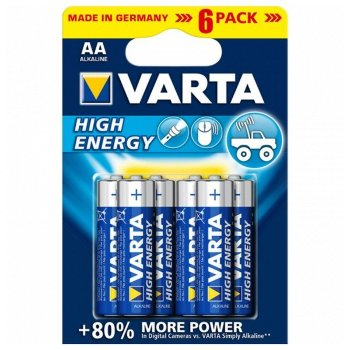 Pila Alcalina Varta 4906 AA 1,5 V AA High Energy (6 pcs) Azul