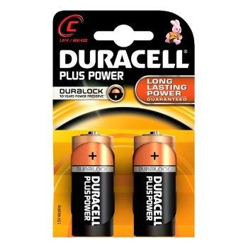 Pilas Alcalinas Plus Power DURACELL LR14/MN1400 (2 pcs)