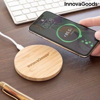 Cargador Inalámbrico de Bambú InnovaGoods