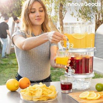 Dispensador de Bebidas Doble con Depósitos de Hielo y Bandeja para Aperitivos TwinTap InnovaGoods