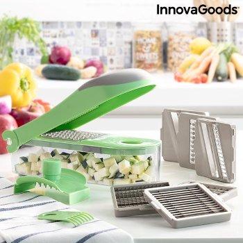 Cortador de Verduras, Rallador y Mandolina con Recetas y Accesorios 7 en 1 Choppie Expert InnovaGoods