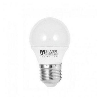 Bombilla LED Esférica Silver Electronics ECO E27 5W Luz blanca