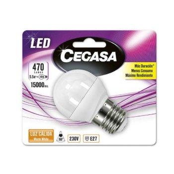Bombilla LED Esférica Cegasa E27 5,5 W A+