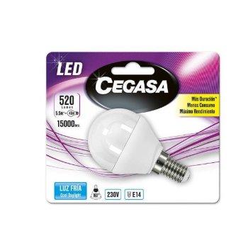 Bombilla LED Esférica Cegasa E14 5,5 W A+
