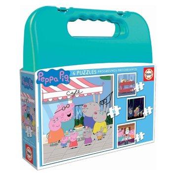 Set de 4 Puzzles Peppa Pig Progressive Educa
