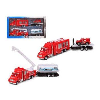 Set de Vehículos Camión de bomberos Rojo (2 Uds)