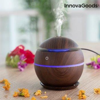 Mini Humidificador Difusor de Aromas Dark Walnut InnovaGoods