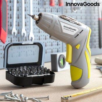 Destornillador Eléctrico Inalámbrico Multiposición con Accesorios Drivelite InnovaGoods 33 Piezas