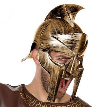 Casco Romano Gladiador Dorado