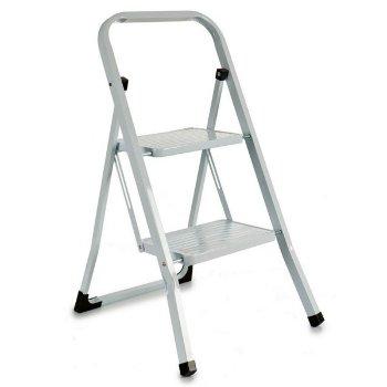 Escalera plegable Blanco Metal