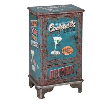 Mesa Auxiliar Cocktails Retro Azul