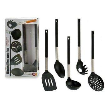 Set de Utensilios para Cocina Negro (5 Piezas)
