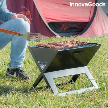 Barbacoa Plegable Portátil para Carbón FoldyQ InnovaGoods