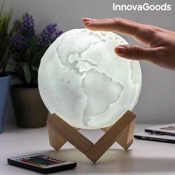 Lámpara LED Recargable Planeta Tierra Worldy InnovaGoods