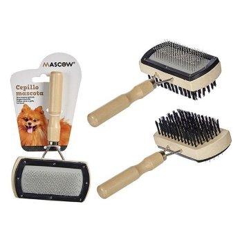 Cepillo para Perros Madera Acero Plástico