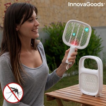Lámpara Antimosquitos y Raqueta Matainsectos Recargable 2 en 1 Swateck InnovaGoods