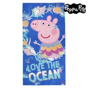 Toalla de Playa Peppa Pig 75502 Microfibra Azul marino