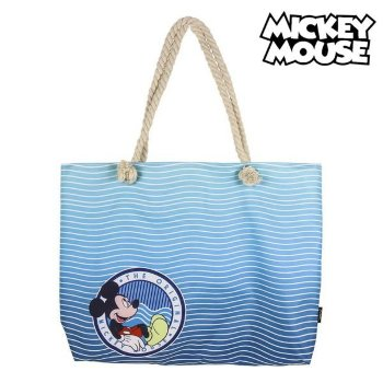 Bolsa de Playa Mickey Mouse 72926 Azul marino Algodón