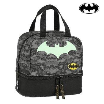 Portameriendas Batman Negro Gris (15 L)