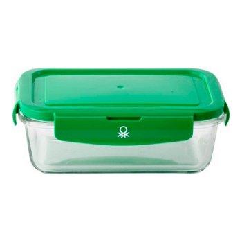 Fiambrera Benetton Rainbow Verde Polipropileno Vidrio de Borosilicato (840 ml)