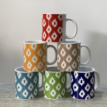 Taza decorada lenguas Mallorquinas