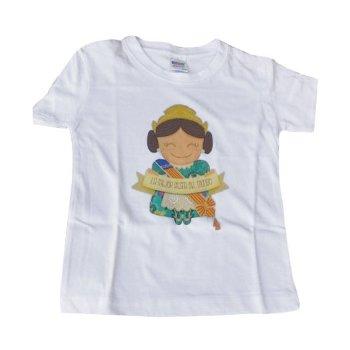 Camiseta con estampado Fallera de Valencia