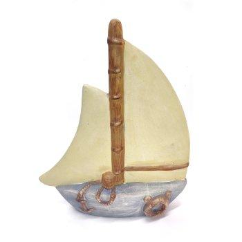 Decoración barco de Vela de cerámica