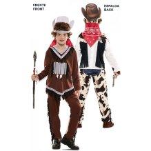 Disfraz de niño doble Indio-Vaquero