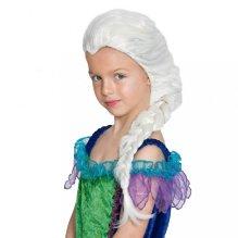 Peluca Infantil Blanca con trenza