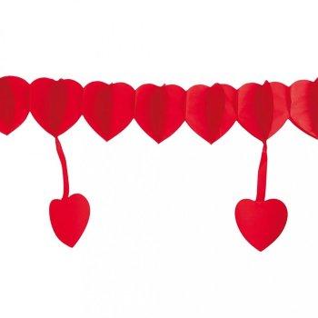 Guirnalda corazones grandes