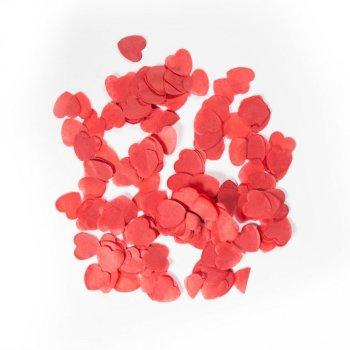 Confetti Corazón grande rojo 100 gramos