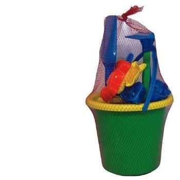 Cubo de juguetes para la playa