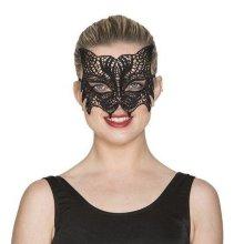 Antifaz encaje negro gato
