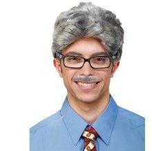 Peluca anciano con bigote