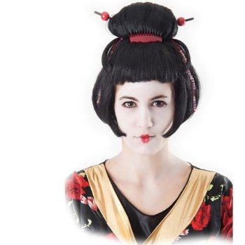 Peluca geisha para disfraz