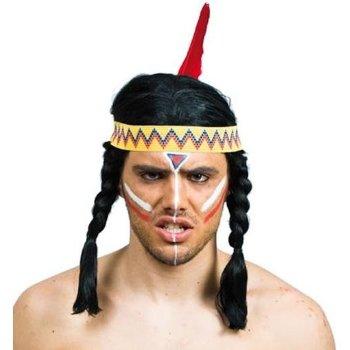 Peluca de Indio con trenzas para disfraz