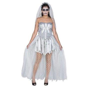 Disfraz de novia zombie mujer Halloween