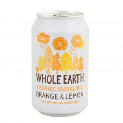 WHOLE EARTH bebida ecológica de naranja y limón