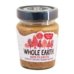 WHOLE EARTH Mantequilla cacahuete, Crunchy Organic
