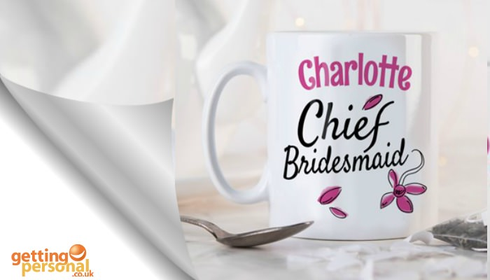 personalised mug - wedding gift for braidsmaid