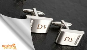 Personalised Cufflinks with Crystal Detail