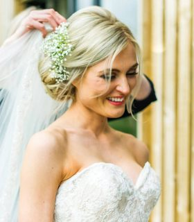 beautiful wedding bridal hairstyles with flowers