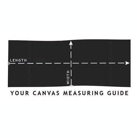 makeup chair canvas measuring guide