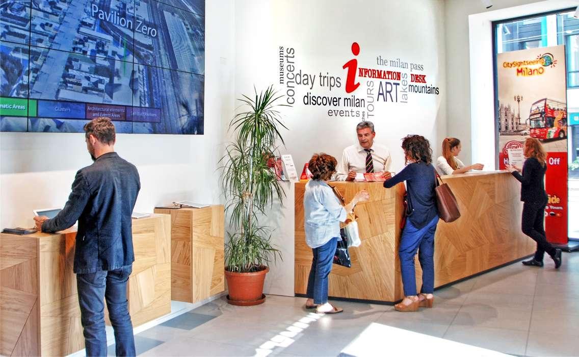 Popup visitor center milan
