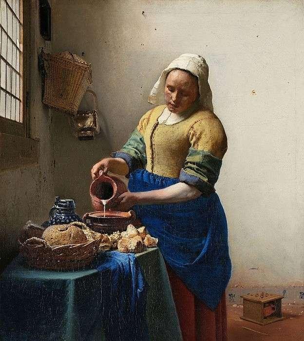 Popup the milkmaid johannes vermeer