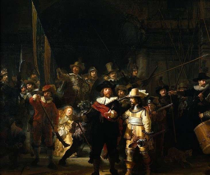 Popup the night watch by rembrandt