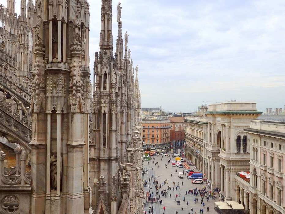 Popup il duomo cathedral terrace views milan italy